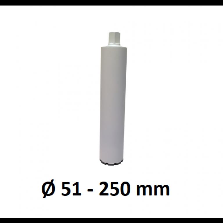 Diamantboor lasergelast dikwandig Ø 51 - 250 mm