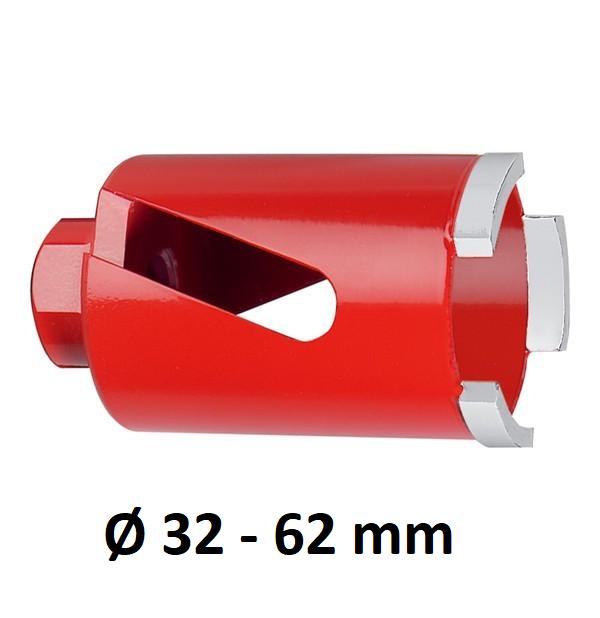 Carat M16 laser diamantboor droog, lengte 60 mm