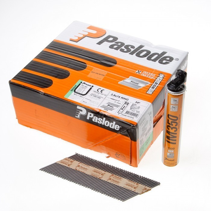 Paslode Im350 Stripnagels 2,8 x 75 mm ring blank (incl. gaspatronen)