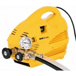 REMS E-Push Elektrische afperspomp met manometer