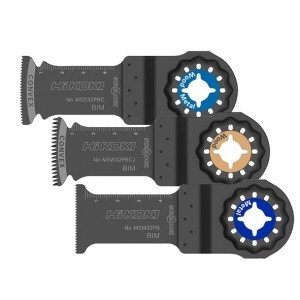 Hitachi Hikoki Multitool 3-delige accessoire set