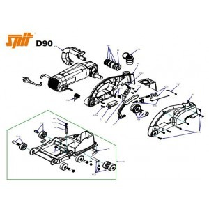 Onderdelen Spit D90