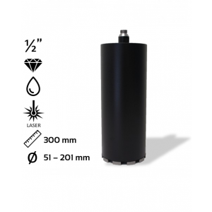 Diamantboor highspeed lasergelast Ø 51 - 201mm