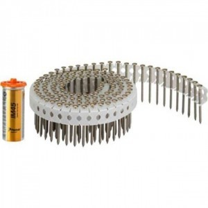 Paslode Haften-Nagel op rol 2,8x25 ring thermisch verzinkt 1000 stuks + gas voor IM45