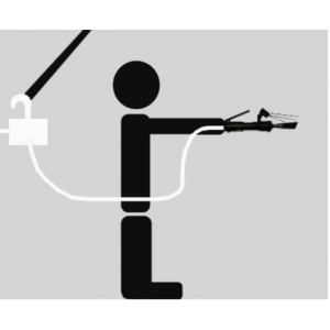 Steigerhaak voor de Spytze watervernevelaar