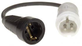 Connectra Verloopsnoer CEE12 - Contrastekker