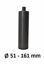 "Diamantboor laserlas Ø 51 - 161mm dunwandig 400mm - 1 1/4"""