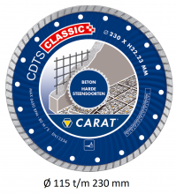 Carat beton/harde steensoorten turbo CDT classic
