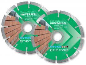THS Tools Ø 140mm universeel diamantzaagblad set (2 stuks)