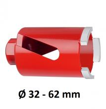 Carat Diamantboor M16 kort Ø32- 62 mm