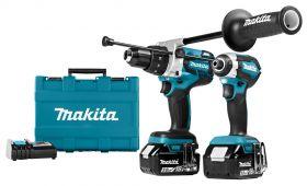 Makita DLX2174TX1 combiset met DHP481 & DTD153