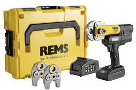 REMS Mini-Press Accu li-ion persmachine in L-Boxx + 3 gratis persbekkentangen