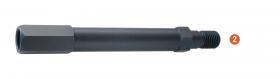 Verlengstuk voor M16 diamantboren 200 mm