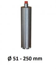 """Diamantboor 1/2"""" Ø 51 - 250mm gesoldeerd dunwandig"""