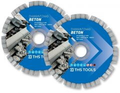 THS Tools Ø 150mm Beton diamantzaagblad set (2 stuks)