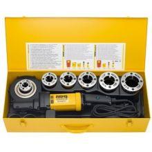 Rems Amigo 2 Compact Set R1/2-2 draadsnijmachine + snelwisselsnijkoppen in koffer - 1800W - R 1/2-3/4-1-1 1/4-1 1/2-2