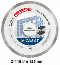 Carat diamantzaag tegels CSM CLASSIC haakse slijper
